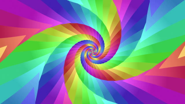Colorful Joyful Rainbow Background Spiral Tunnel. Hypnotic Psychedelic Animation. background cartoon animation twisted stock videos & royalty-free footage