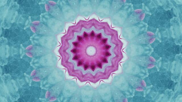 colorful kaleidoscope fractal design blue pink ink