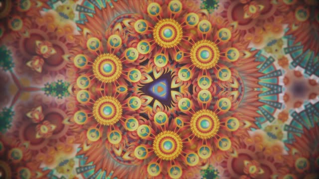 bunte kaleidoskop-sequationsmuster. abstract multicolored motion graphics background. schönes helles ornament. nahtlose schleife - kontrastreich stock-videos und b-roll-filmmaterial
