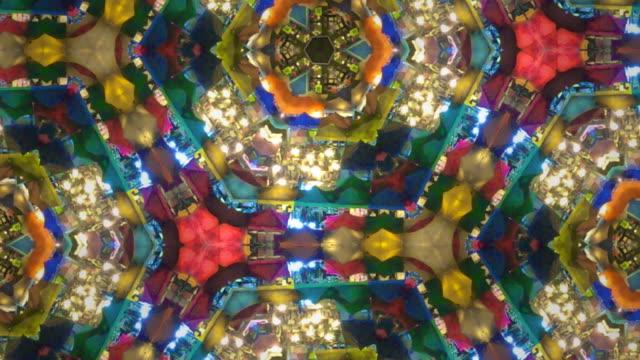 colorful kaleidoscope - узор калейдоскоп стоковые видео и кадры b-roll