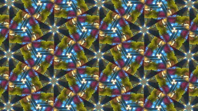 colorful kaleidoscope video