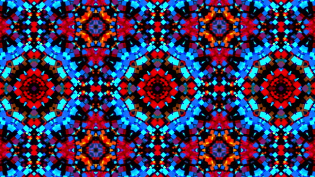 Colorful Kaleidoscopic Video Background. Abstract backdrop Colorful Kaleidoscopic Video Background. Abstract backdrop. Seamless loop mosaic stock videos & royalty-free footage