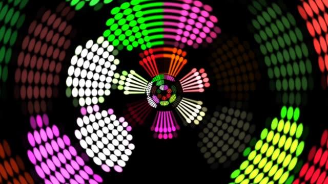 colorful led lights flashing shining brightly. Beautiful color reflector nightclub. disco background