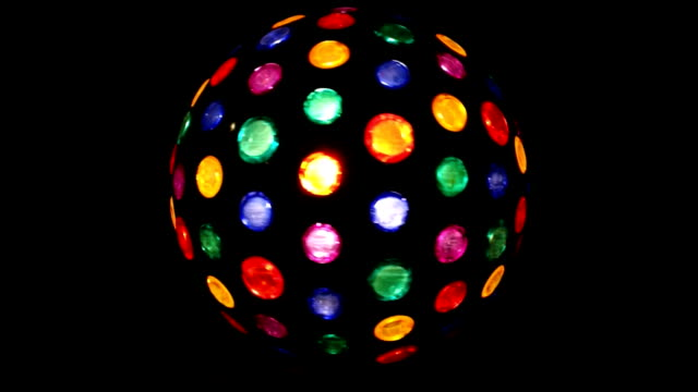 Colorful Light disco. video