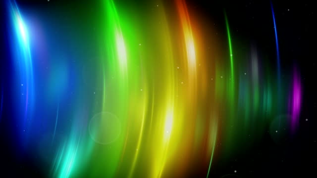 colorful light flares loopable background