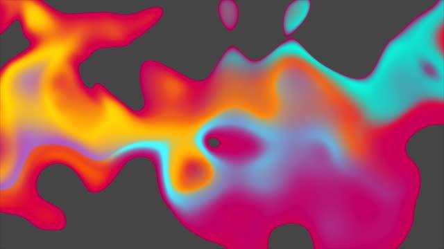 colorful liquid 3d abstract waves video animation - голографический стоковые видео и кадры b-roll