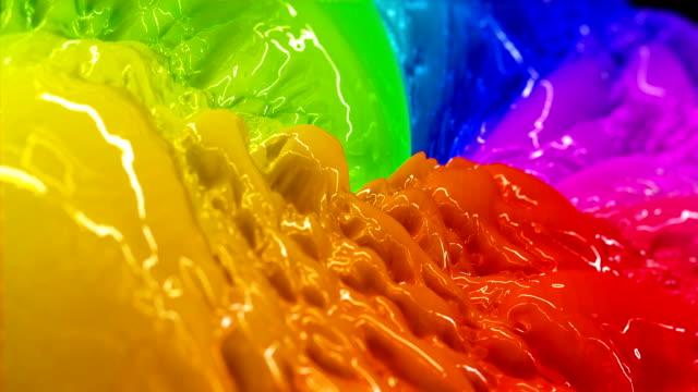 bunte flüssigkeit farbe - bunt farbton stock-videos und b-roll-filmmaterial