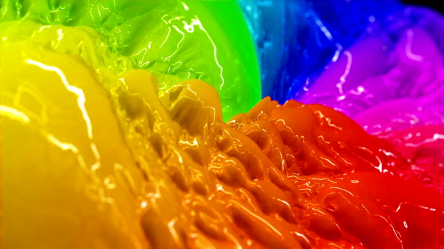 bunte flüssigkeit farbe - rohmaterial stock-videos und b-roll-filmmaterial