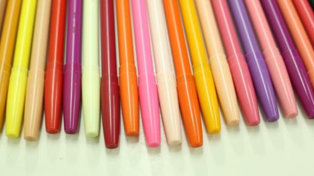Colorful magic pens, Multicolored Pens draw line video
