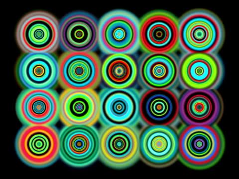 Colorful Mesmerizing Dots video