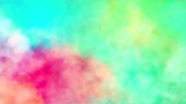 colorful mixing of smoke of abstract colors, ideal for background, news opener and event celebration video