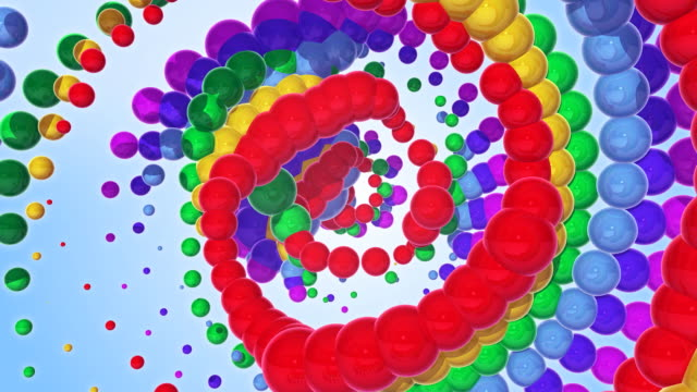 Colorful moving metallic sphere - background. video