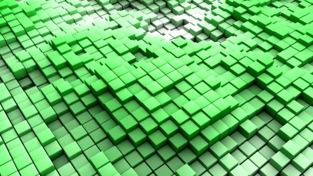 Colorful Multicolor Gradient Cubes Background. video