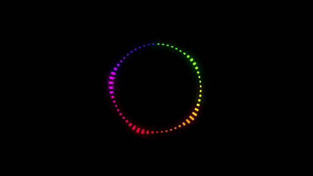 Colorful Music Equalizer, audio waves or sound frequency on Black background video