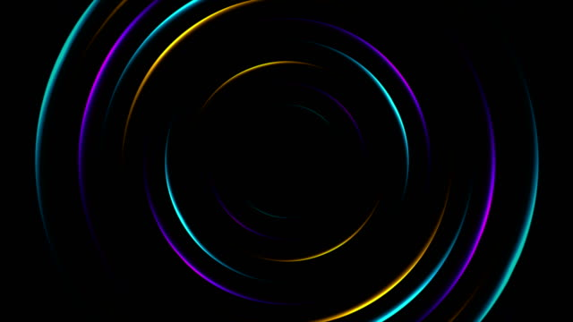 colorful neon glowing circles abstract video animation - логотип стоковые видео и кадры b-roll