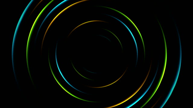 Colorful neon glowing circles abstract video animation Colorful neon glowing circles abstract animated background. Video clip motion design Ultra HD 4K 3840x2160 neon colored stock videos & royalty-free footage