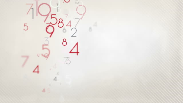kolorowe numery, tło pętli hd pastelowych czerwony/czarny - liczba filmów i materiałów b-roll