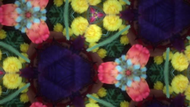 красочные из kaleidoscope - узор калейдоскоп стоковые видео и кадры b-roll