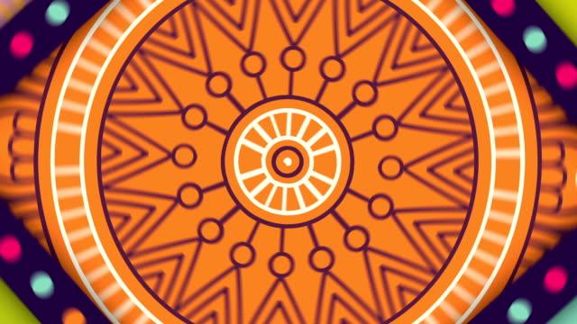färgstarka orientaliska mandalas spinning i loop - mandala bildbanksvideor och videomaterial från bakom kulisserna