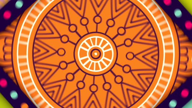 colorful oriental mandalas spinning in loop - мандала стоковые видео и кадры b-roll