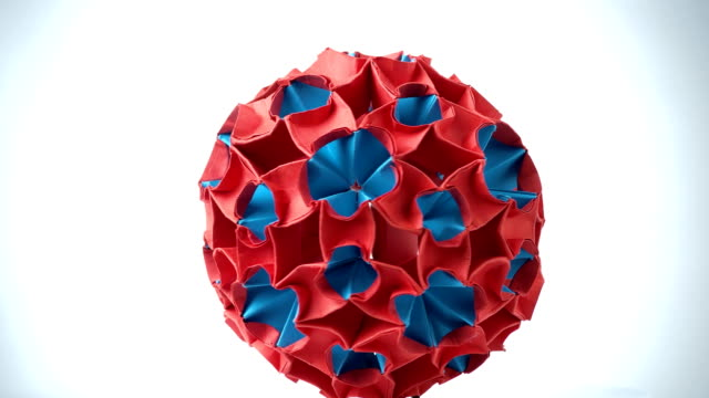 Royalty Free Origami Ball Hd Video 4k Stock Footage B Roll Istock