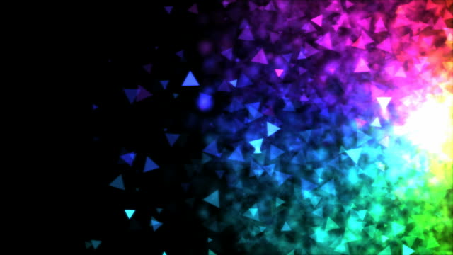 Colorful Particle Background - Loop Rainbow video