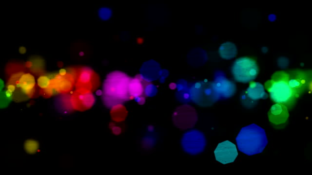Colorful particles background video