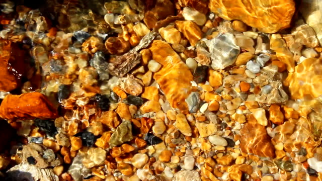 colorful pebbles under water sea for the background