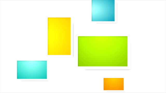 Colorful picture frames abstract video animation video