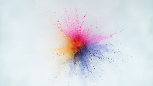 Colorful powder exploding in super slow motion. Colorful powder exploding in super slow motion.  Shot on Phantom Flex 4K high speed camera. changing form stock videos & royalty-free footage