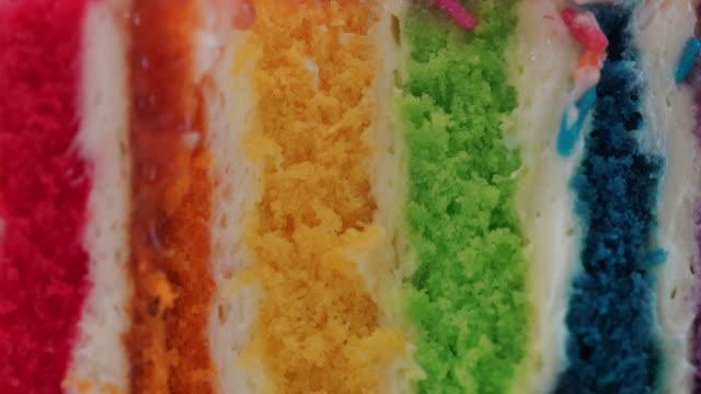Colorful Rainbow Cake