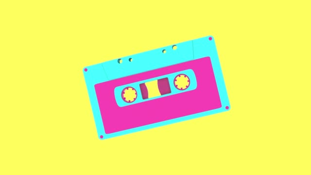 vídeos y material grabado en eventos de stock de cassette retro colorido - disco audio analógico