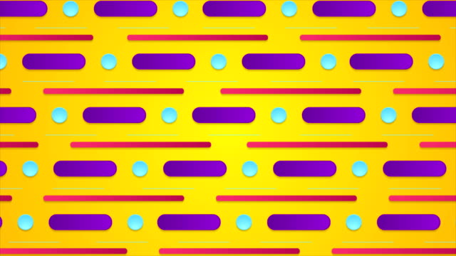 カラフルなレトロな最小限の幾何学的なビデオ アニメーション - 連続文様点の映像素材/bロール