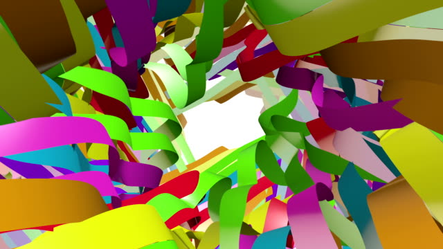 Colorful Ribbons Flowing In Space video