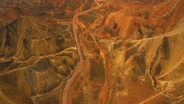 Colorful rock formations of Zhangye National Geopark
