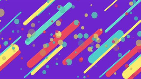 bunte nahtlose geometrische muster lila hintergrund - computergrafiken stock-videos und b-roll-filmmaterial