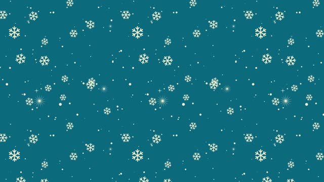 Colorful Snowflake Background | Loopable stock video