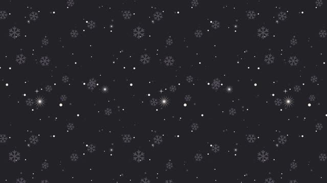 Colorful Snowflake Background   Loopable stock video
