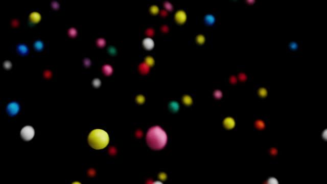färgglada strössel socker godis. - confetti bildbanksvideor och videomaterial från bakom kulisserna