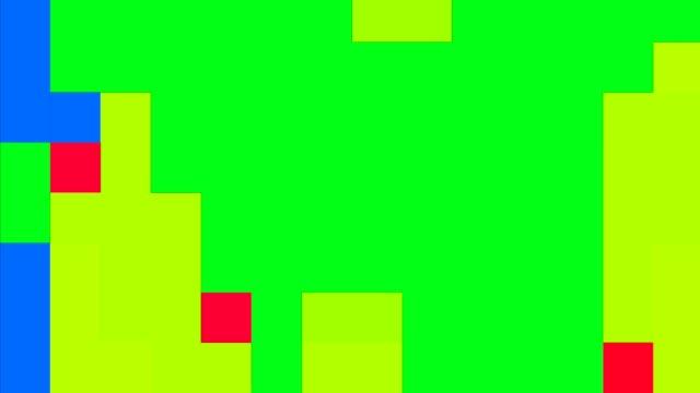 vidéos et rushes de fond carré coloré de 8 bits de pixel, cube de pixels - vue partielle