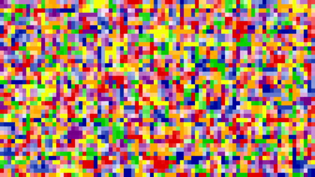 colorful square 8 bit pixel background colorful square 8 bit pixel background in lgbt pride rainbow colors, loop 4k stock video footage, motion graphic animation mosaic stock videos & royalty-free footage