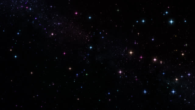 Colorful stars. Loopable. Night sky with bkinking stars. video