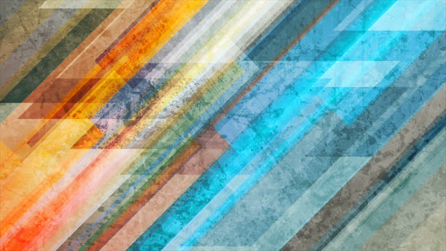 Colorful stripes grunge geometric abstract motion background