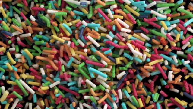 colorful sugar confetti in the air