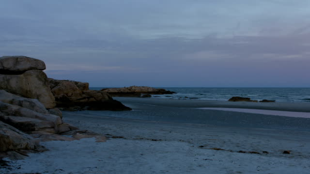 Colorful Sunset On Beach In Gloucester, Ma video