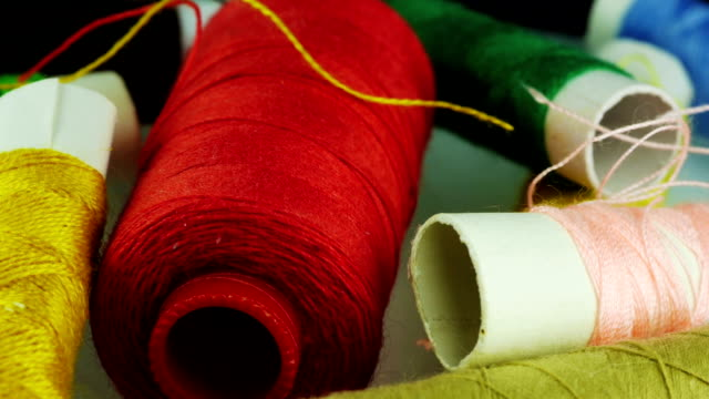 Colorful threads. video