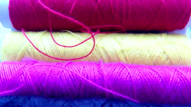 Colorful threads video