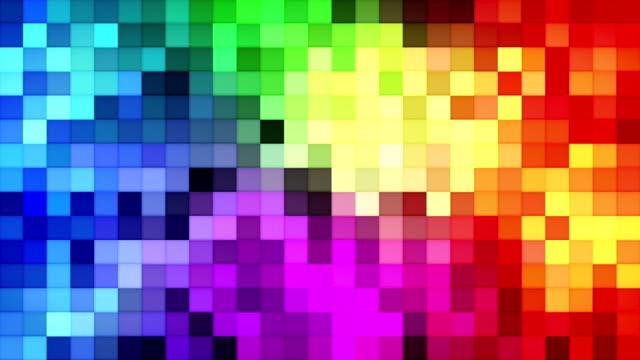 vidéos et rushes de mosaïque de tuiles colorées bouclables fond - mosaïque