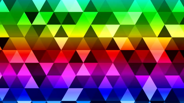 Colorful Triangles Background. Disco Loop Background video