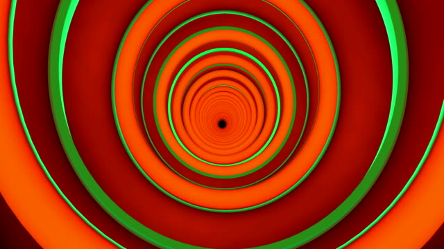 Colorful tunnel on a spiral shape.